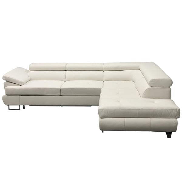 LUTON Leather Sectional Sleeper Sofa