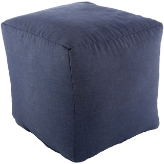 Porch & Den Laurelview Solid Color Upholstered 18-inch Indoor / Outdoor Cube Pouf