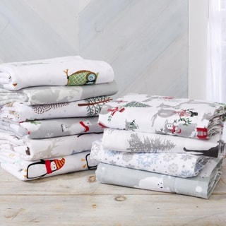 Stratton Collection Extra Soft Printed 100% Turkish Cotton Flannel Pillowcases