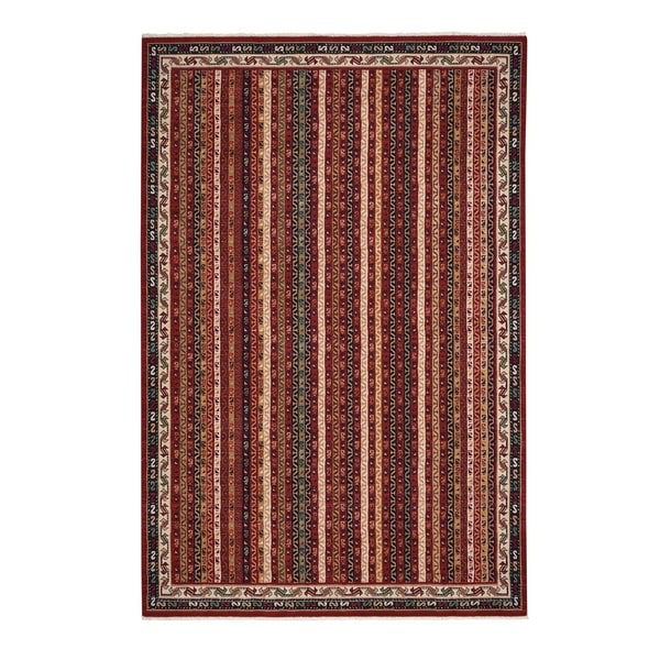 "Biltmore Salva-Bazaar Burgundy Oriental Machine Woven Rectangle Rug - 5' 3"" x 7' 10"""