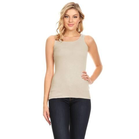 Women's Basic Workout Yoga Gym Cotton Tank Top