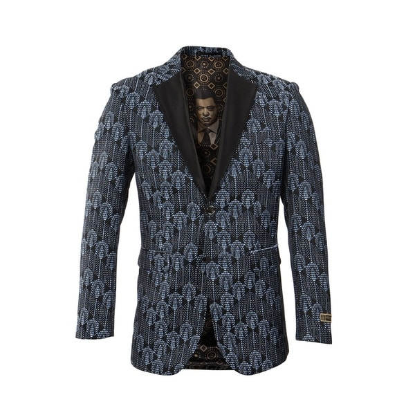Empire Show Jacket Classic Fit Satin Lapel Fashion Jacket by  No Copoun