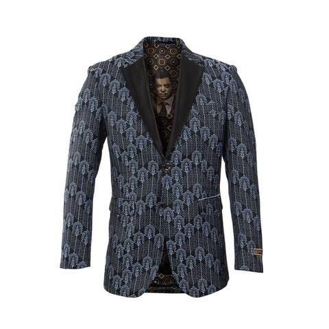 Empire Show Jacket Classic Fit Satin Lapel Fashion Jacket