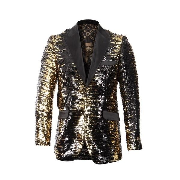 Empire Show Jacket Sequin Fashion Blazer Peak Lapel Dinner Jacket