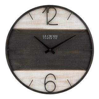 La Crosse Clock 404-4040 16-Inch Ironwood Quartz Wall Clock