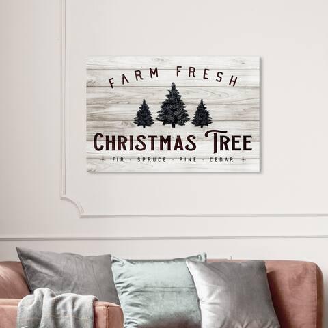 Wynwood Studio Holiday and Seasonal Wall Art Canvas Prints 'Farm Fresh Christmas Tree' Christmas Home Décor - Brown, Green