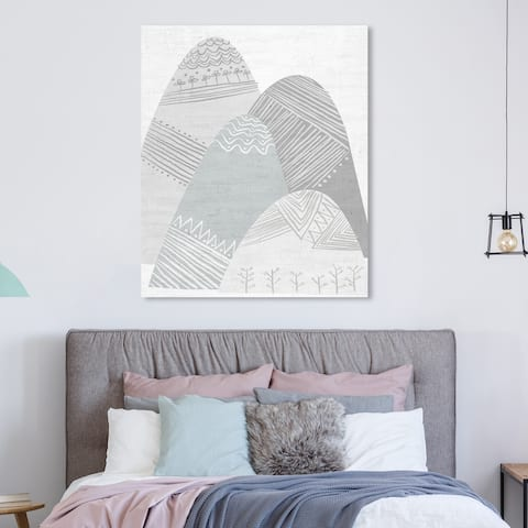 Wynwood Studio Holiday and Seasonal Wall Art Canvas Prints 'Scandinavian Winter Hills' Winter Home Décor - Gray, White