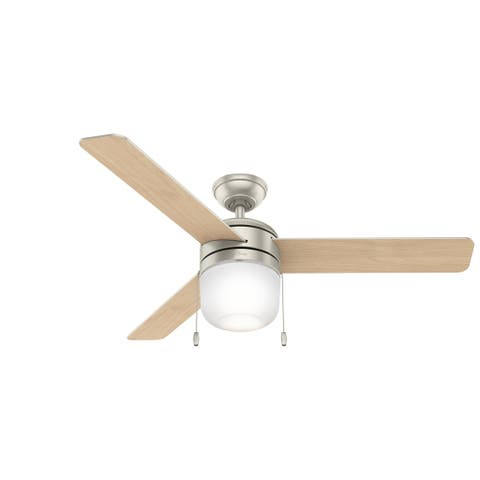 "Hunter 52"" Acumen Ceiling Fan with LED Light Kit and Pull Chain"