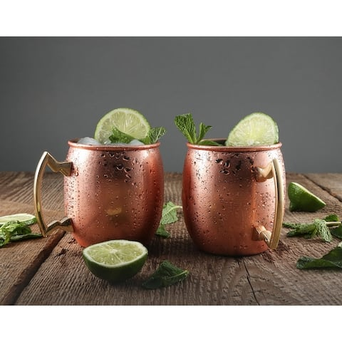 Cambridge Silversmiths 2 Pack Copper Moscow Mule Mugs, 20 Ounce - 20 ounce