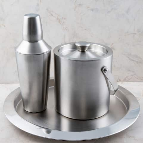 Cambridge Silversmiths 3 Piece Stainless Steel Bar Set - 3 Piece