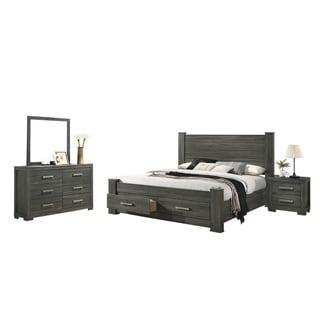 Best Quality Furniture Lisa 4-Piece Bedroom Set