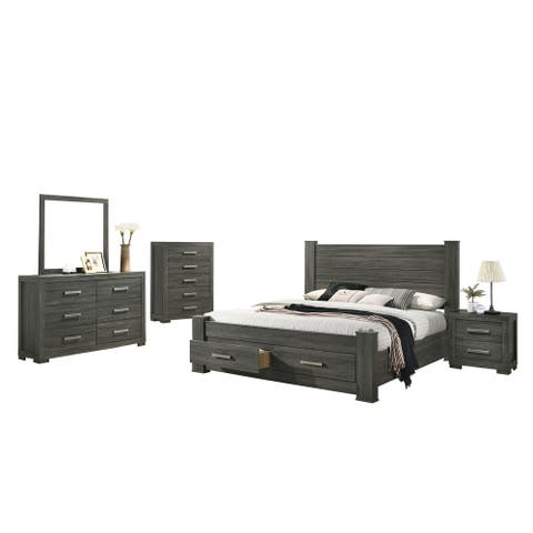 Best Quality Furniture Lisa 4-Piece with Extra Chest Bedroom Set