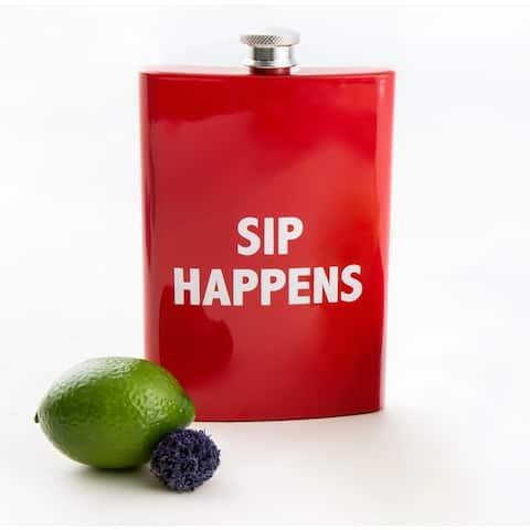 Cambridge Silversmiths Sayings Flask, 8 ounces