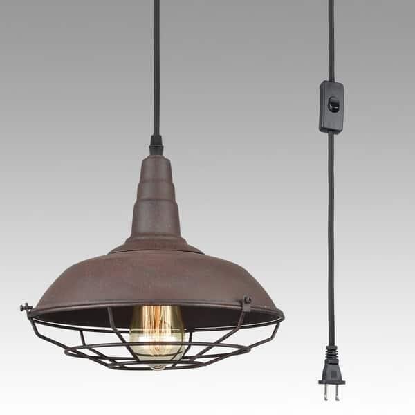 Lighting Fixture Plug In Pendant Metal