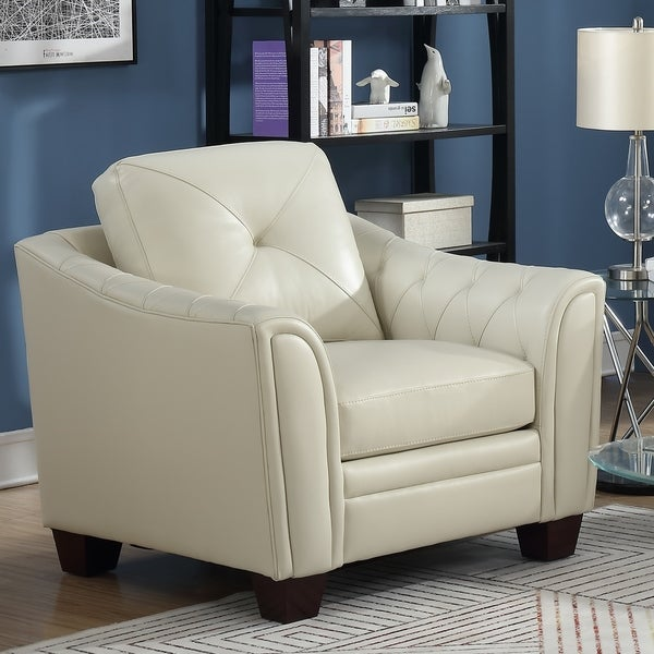Shop Copper Grove Baclieu Tufted Ivory Leather Accent