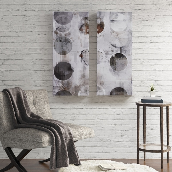 INK+IVY Circular Meridian Multi Printed Abstract Canvas 2 Piece Set