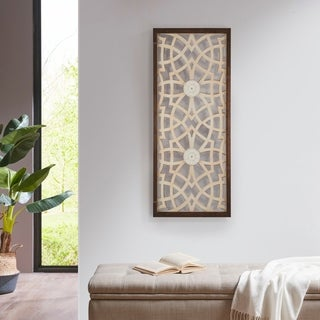 Link to Madison Park Damask Carved Wood Panel Similar Items in Wall Sculptures