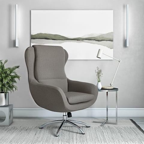 Carson Carrington Arabella Modern Swivel Rocking Chair