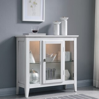 White Entryway Living Room Curio Cabinet