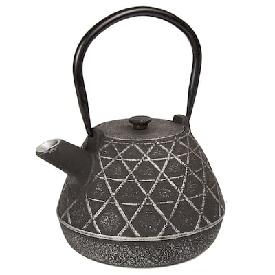 Creative Home Kyusu Black Cast Iron 34 oz. Tea Pot