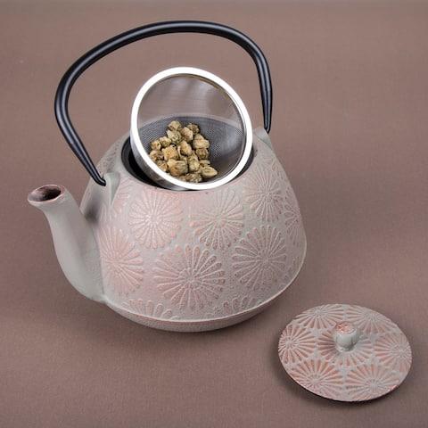 Creative Home Kyusu Grey Cast Iron 40 oz. Tea Pot