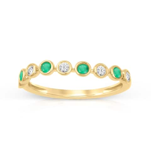 1/6ct TDW Diamond Gemstone Band in 10k Yellow Gold by De Couer