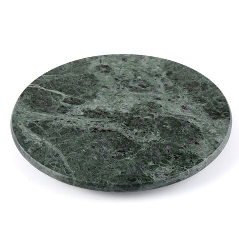 "Creative Home Green Marble 12"" Lazy Susan, Rotating Serving Board"