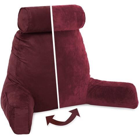 Husband Bedrest Pillow - Bed Rest Micro Suede Reading Pillow