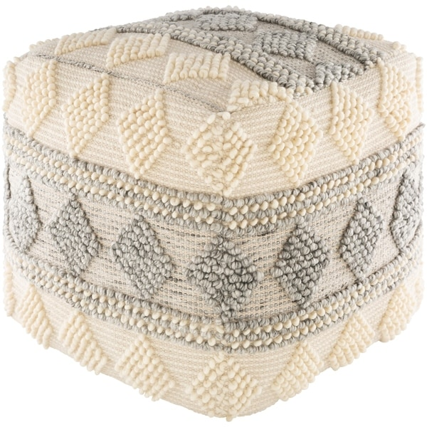 Lavena Farmhouse 18-inch Cube Pouf