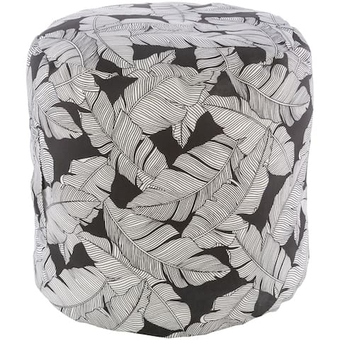 Jasra Indoor / Outdoor Palm 18-inch Cylinder Pouf