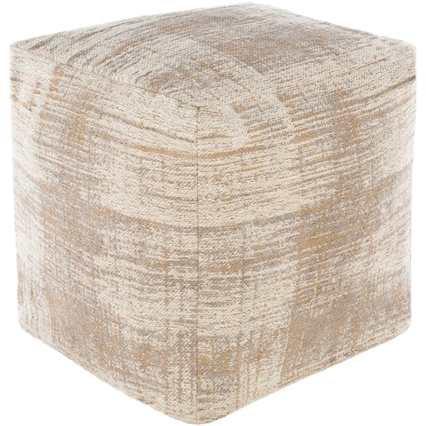 Elina Modern Abstract 18-inch Cube Pouf
