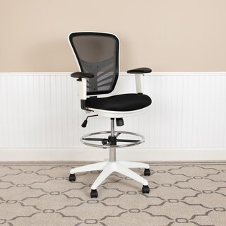 Mid-Back Mesh Ergonomic Drafting Chair - Adjustable Foot Ring