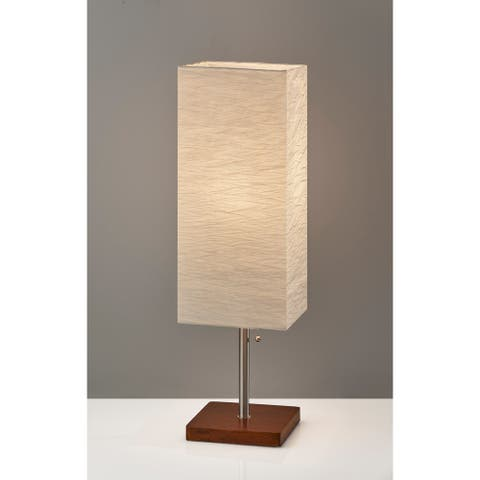 Adesso Brushed Steel Dune Table Lamp