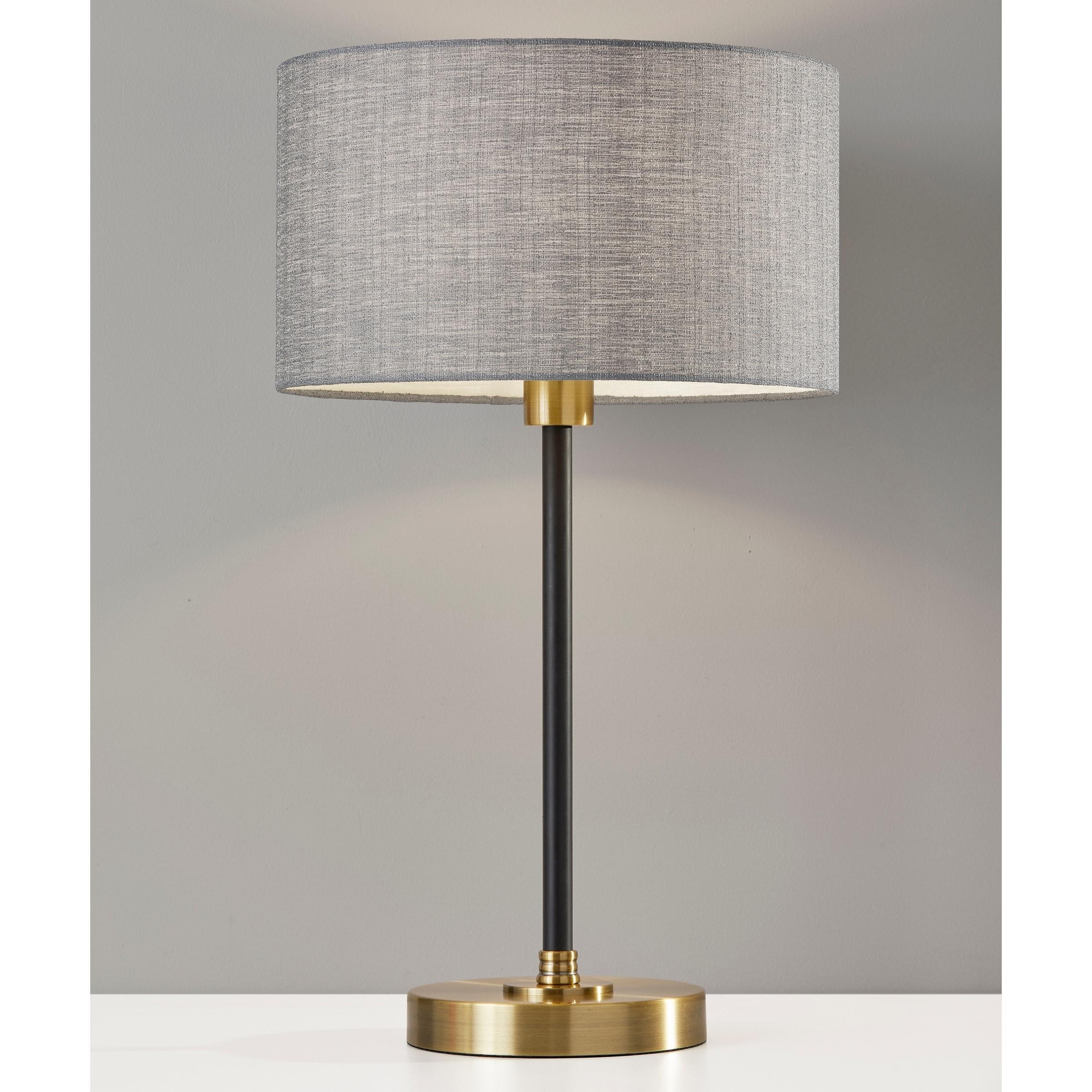 Shop Black Friday Deals On Carson Carrington Parteby Black Antique Brass Table Lamp Overstock 30266067