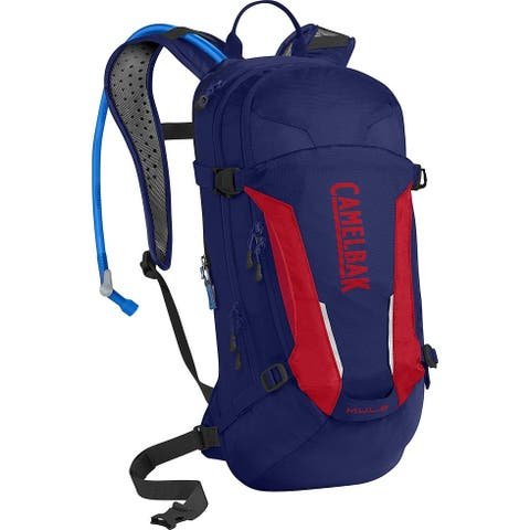 CamelBak 1115406000 M.U.L.E. Hydration Pack, Pitch Blue & Racing Red, 100oz