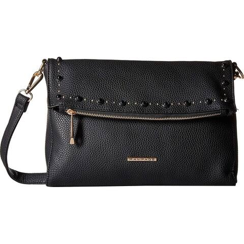Rampage Womens Stud Tunnel Flap Crossbody