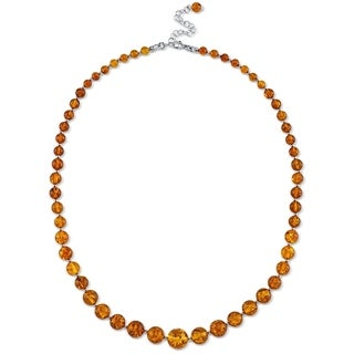 "Link to Baltic Amber Strand Necklace in Sterling Silver, 19"" Similar Items in Necklaces"