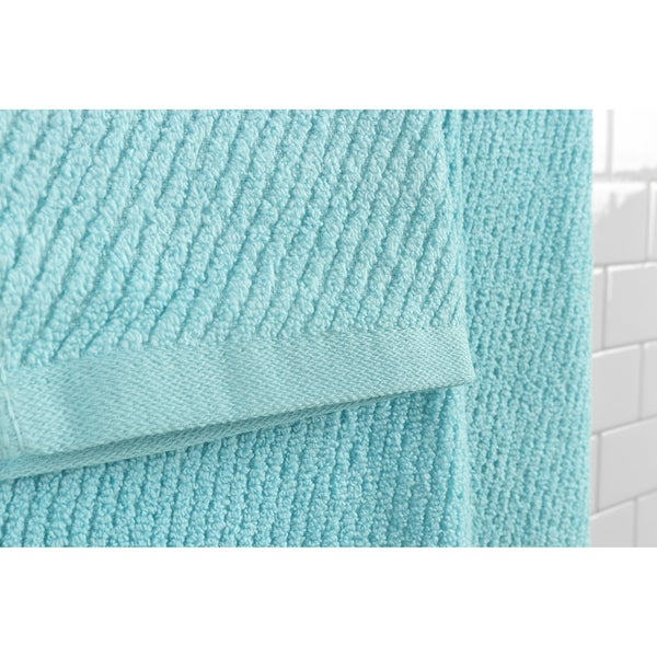 """Set of 4 100/% Cotton Bath Towels Large 27/"""" x 54/"""" Size Aqua Blue"""