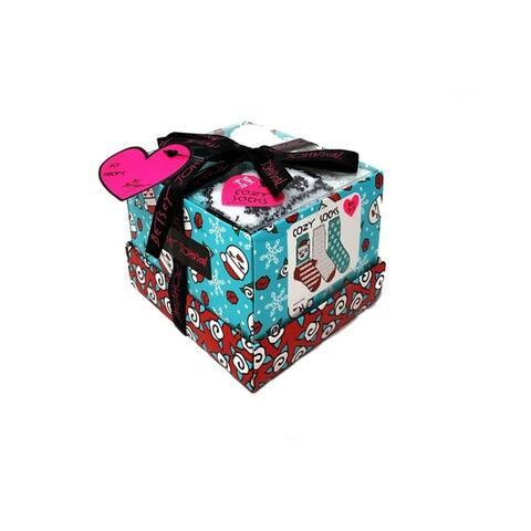 Betsey Johnson 3-Pack Snowman Cozy Box Multi Womens Sock 9-11