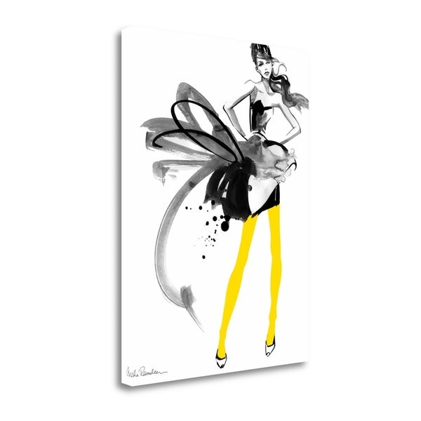 """""""Yellow Tights"""" By Aasha Ramdeen, Fine Art Giclee Print on Gallery Wrap Canvas, Ready to Hang"""
