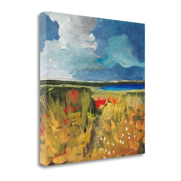 """""""Spring Wildflowers"""" By Jan Weiss, Fine Art Giclee Print on Gallery Wrap Canvas, Ready to Hang"""