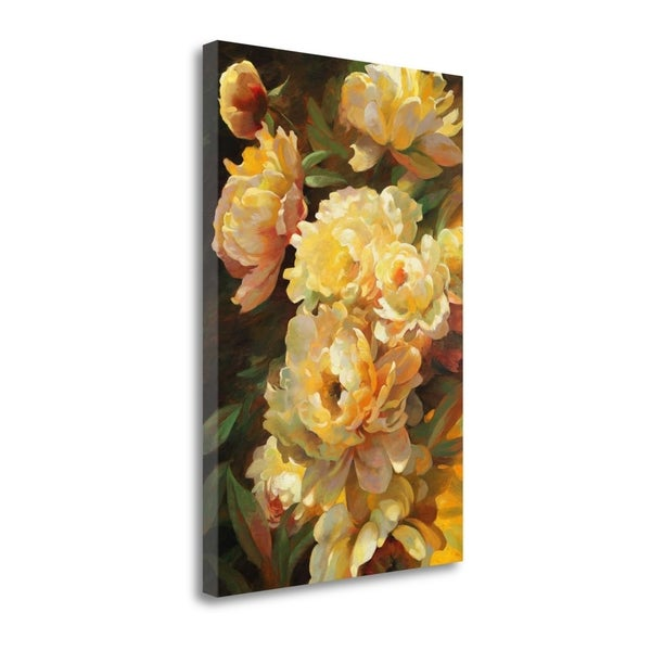 """Peonies For Springtime"" By Emma Styles, Giclee Print on Gallery Wrap Canvas"