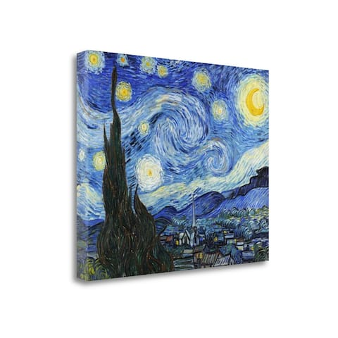 """""""Starry Night"""" by Vincent Van Gogh, Fine Art Giclee Print on Gallery Wrap Canvas, Ready to Hang"""