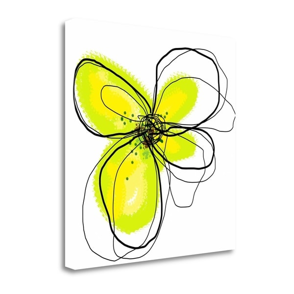 """""""Yellow Petals One"""" By Jan Weiss, Fine Art Giclee Print on Gallery Wrap Canvas, Ready to Hang"""