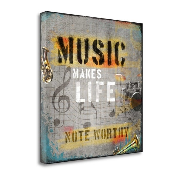 """""""Music Makes Life"""" By Jim Baldwin, Fine Art Giclee Print on Gallery Wrap Canvas, Ready to Hang"""