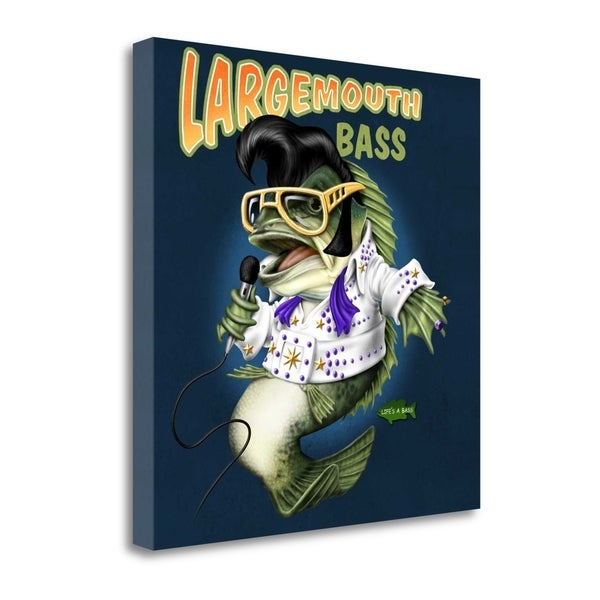 """Largemouth Bass"" By Jim Baldwin, Fine Art Giclee Print on Gallery Wrap Canvas, Ready to Hang"