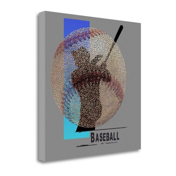 """Baseball"" By Jim Baldwin, Fine Art Giclee Print on Gallery Wrap Canvas, Ready to Hang"