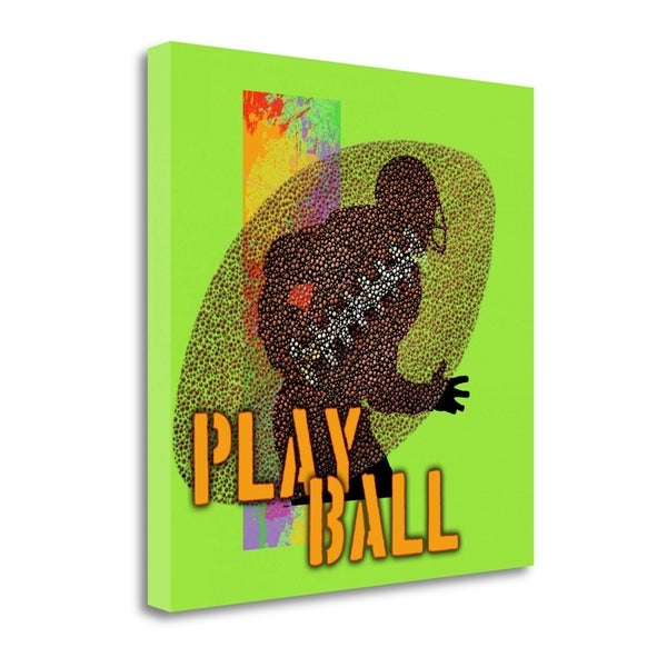 """Play Ball - Football"" By Jim Baldwin, Fine Art Giclee Print on Gallery Wrap Canvas, Ready to Hang"