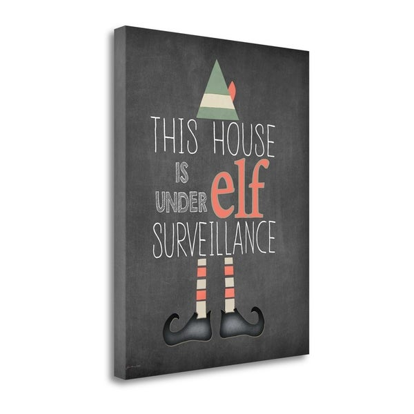 """""""Elf Surveillance"""" By Jo Moulton, Fine Art Giclee Print on Gallery Wrap Canvas, Ready to Hang"""