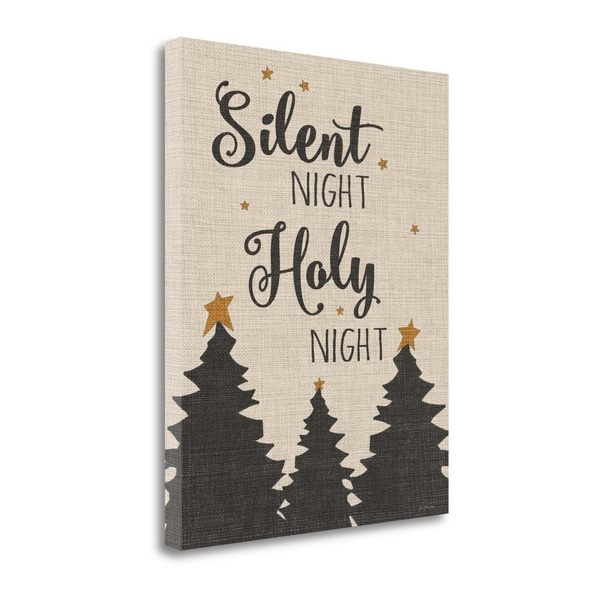 """Silent Night - Linen"" By Jo Moulton, Fine Art Giclee Print on Gallery Wrap Canvas, Ready to Hang"